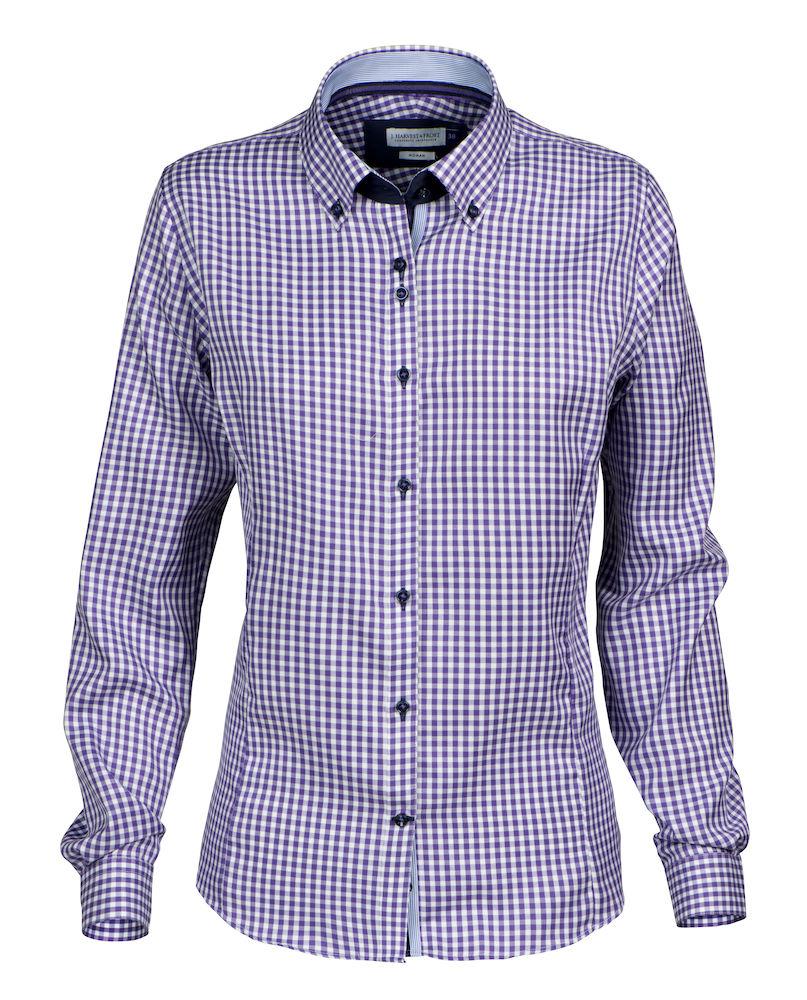 Dames Overhemd.Harvest Frost Purple Bow 41 Dames Overhemd Drs Bedrijfskleding