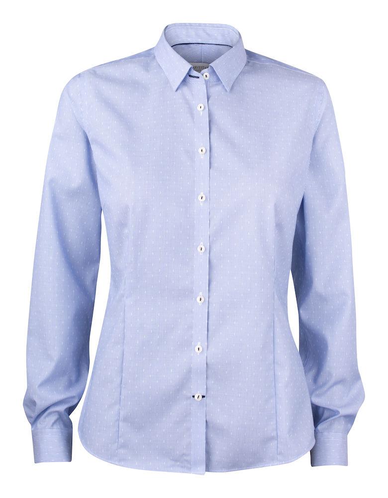 Dames Overhemd.Harvest Frost Purple Bow 140 Dames Overhemd Drs Bedrijfskleding
