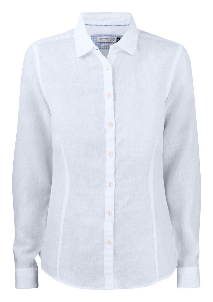 Dames Overhemd.Harvest Frost Indigo Bow 33 Dames Overhemd Drs Bedrijfskleding